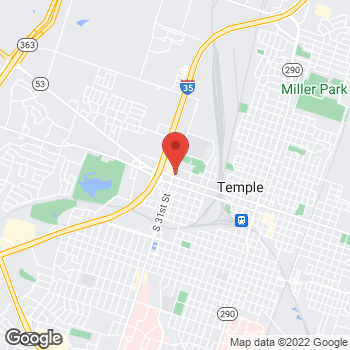Map of Arby's at 1514 W Adams Ave, Temple, TX 76504