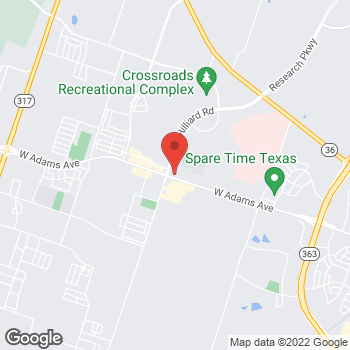 Map of Taco Bell at 6820 W. Adams Avenue, Temple, TX 76502