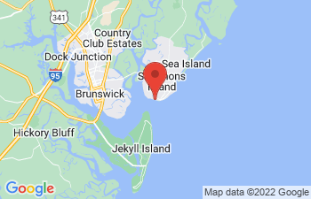 Map of St Simons Island