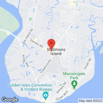 Map of Verizon Authorized Retailer - TCC at 248 Retreat Village, Saint Simons Island, GA 31522