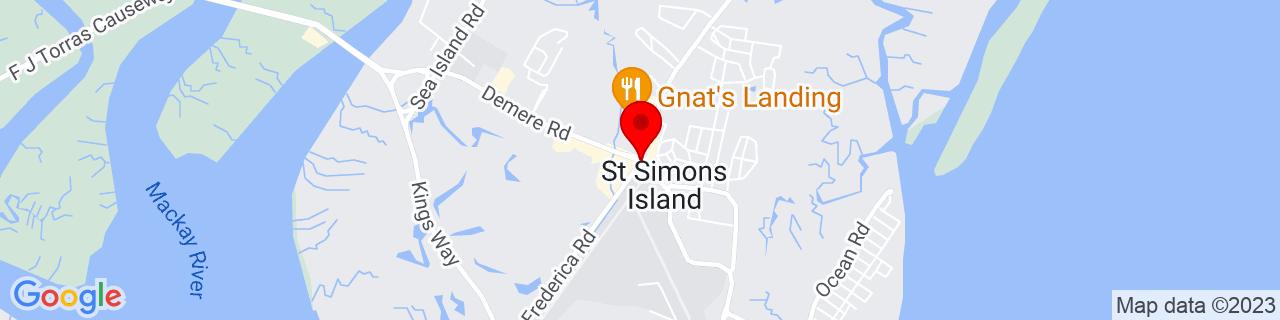 Google Map of 31.1595905, -81.3885517