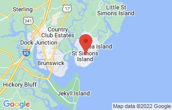 Map of St Simons Island