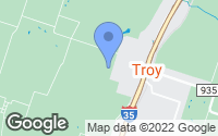 Map of Troy, TX