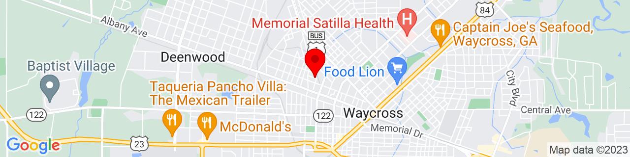 Google Map of 31.218739, -82.36412399999999