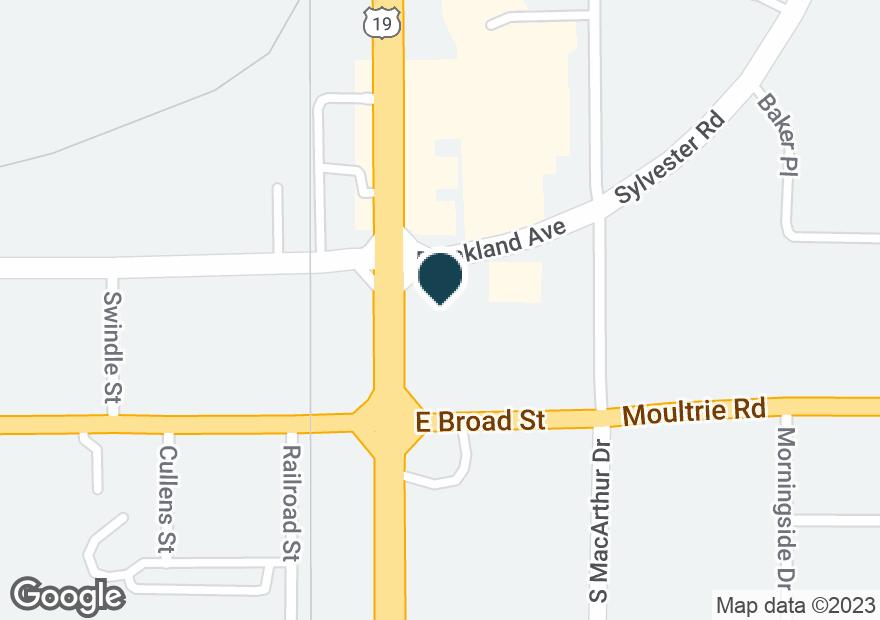 Google Map of266 E BROAD ST
