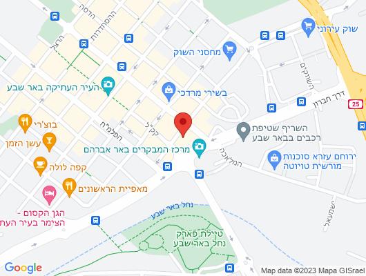 Google Map of דרך חברון 5, באר שבע