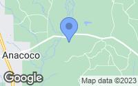 Map of Anacoco, LA