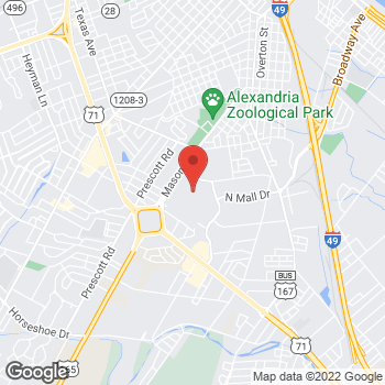 Map of Bed Bath & Beyond at 3437 Masonic Drive, Alexandria, LA 71301