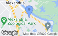 Map of Alexandria, LA