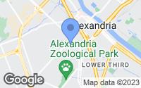 Map of Alexandria, LA