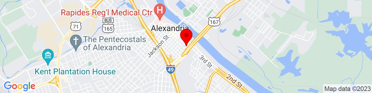 Google Map of 31.3082439, -92.4421785