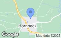 Map of Hornbeck, LA