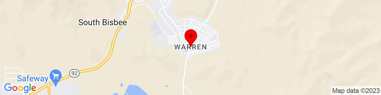Google Map of 31.410833333333333, -109.87833333333333