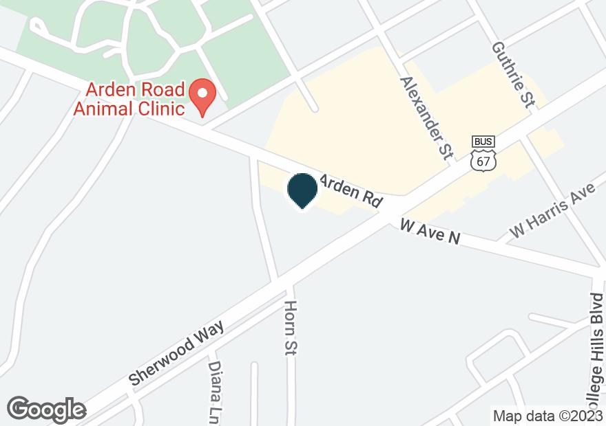 Google Map of3328 SHERWOOD WAY