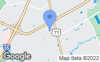 Map of Robinson, TX