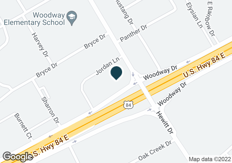 Google Map of9101 WOODWAY DR