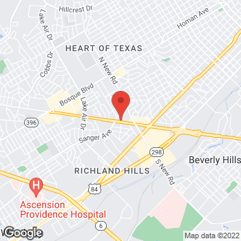Map of Arby's at 723 North Valley Mills Drive, Waco, TX 76710