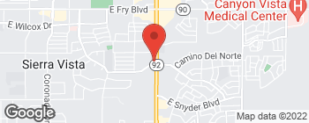 Map of 3965 E Foothills Dr in Sierra Vista