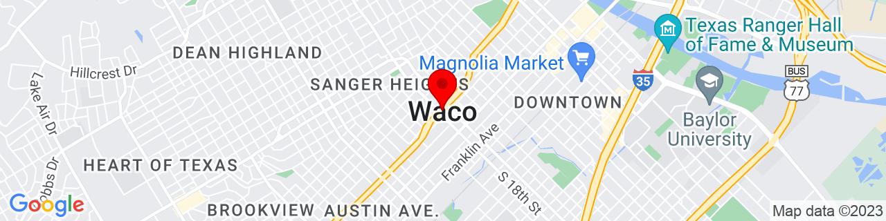 Google Map of 31.549444444444447, -97.14666666666668