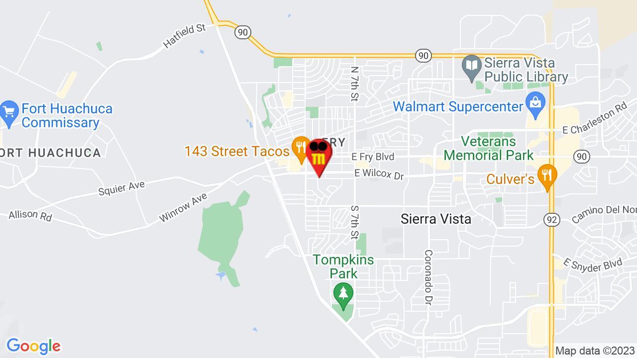 Google Map of Sierra Vista Pest Control