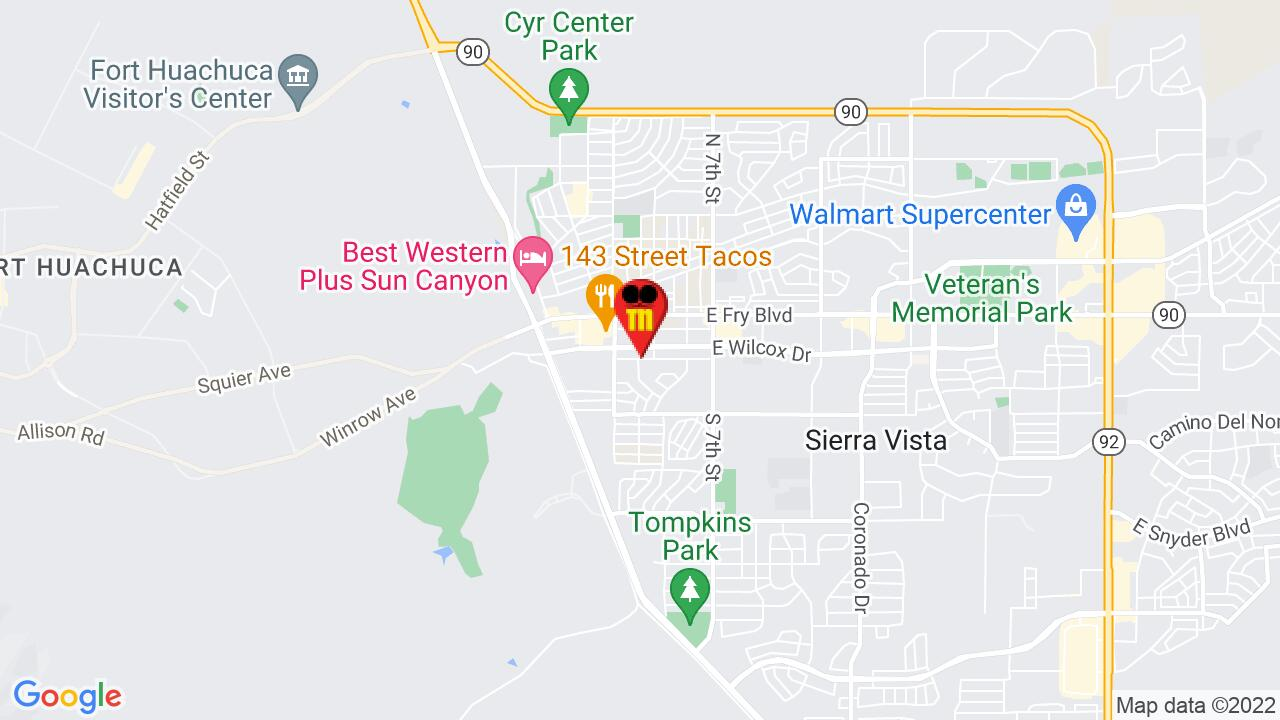 Google Map of Sierra Vista Pest Control