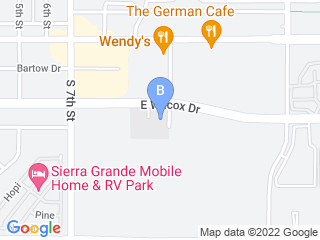 Map of Creature Comforts Pet Sitting Service Dog Boarding options in Sierra Vista | Boarding