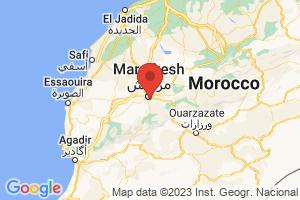 Map of Region de Marrakech-Tensift-Al Haouz