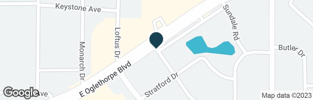 Google Map of2200A E OGLETHORPE BLVD