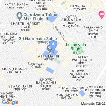 Location of Harmandir Sahib