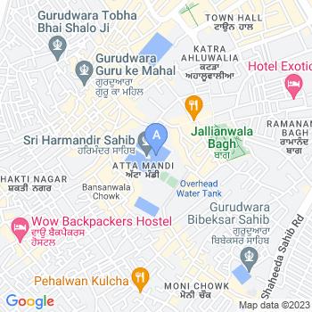Location of Harmandir Sahib