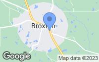 Map of Broxton, GA