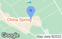 Map of China Spring, TX