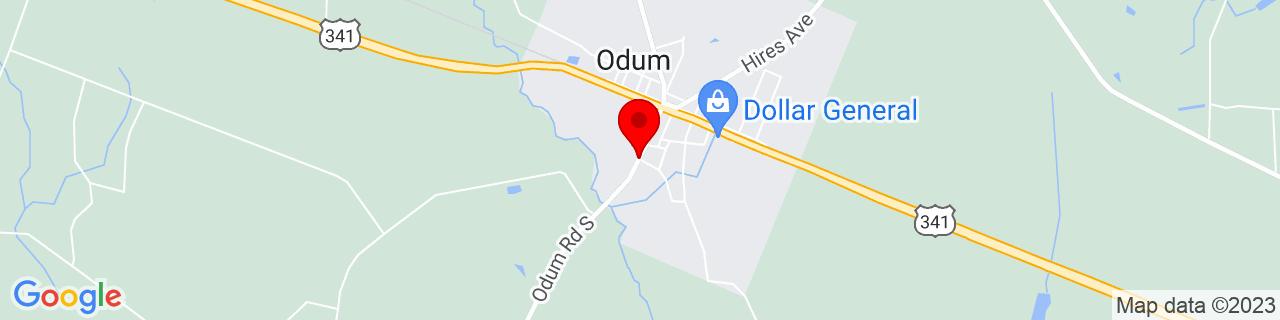 Google Map of 31.6613319, -82.0303204