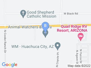 Map of Animal Watchers  More Dog Boarding options in Huachuca City | Boarding