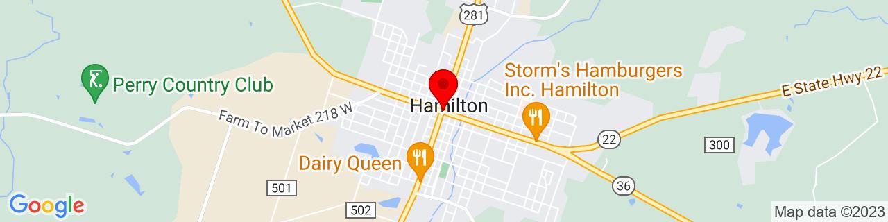 Google Map of 31.7037655, -98.1239231