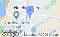 Map of Natchitoches, LA