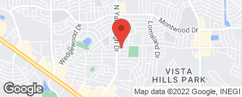 Map of 1810 Trawood Dr in El Paso