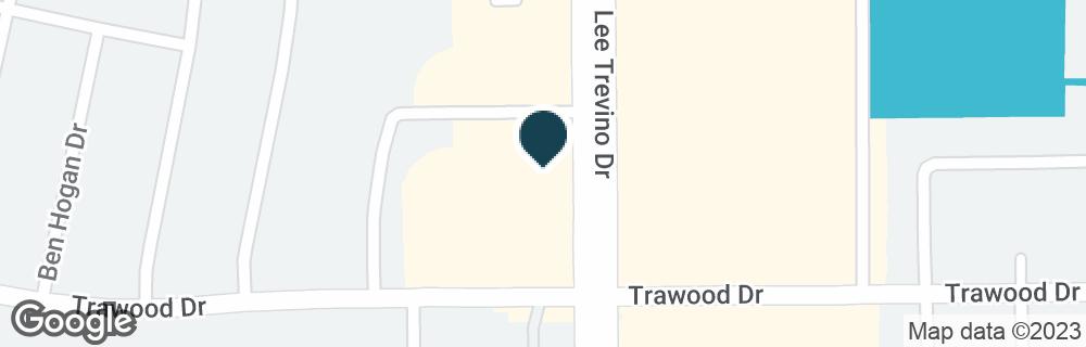 Google Map of1831 N LEE TREVINO DR