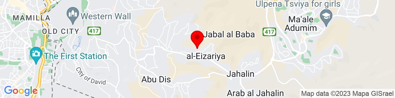Google Map of 31.77078, 35.26916