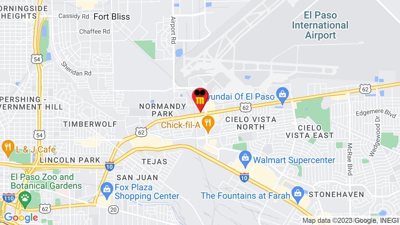 Google Map of El Paso Pest Control