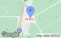 Map of West, TX