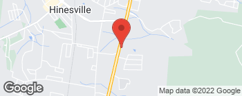 Map of 820 W Oglethorpe Hwy in Hinesville