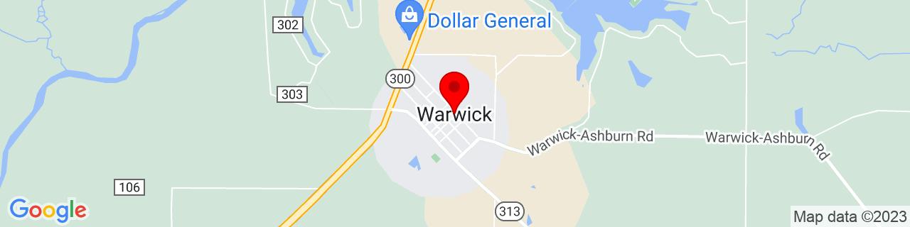 Google Map of 31.8310072, -83.9187886