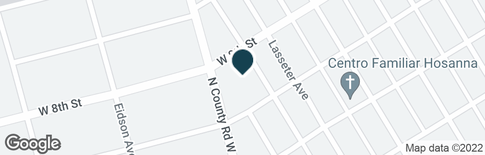 Google Map of1707 W 8TH ST
