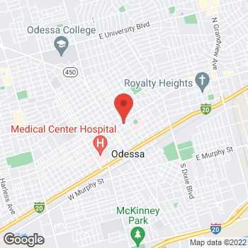 Map of Manuel Castillo, MD at 303 East 7th Street, Odessa, TX 79761