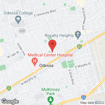Map of Vinh Nguyen, MD at 420 E 6th Street, Odessa, TX 79761