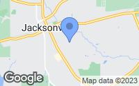 Map of Jacksonville, TX