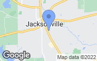 Map of Jacksonville, TX