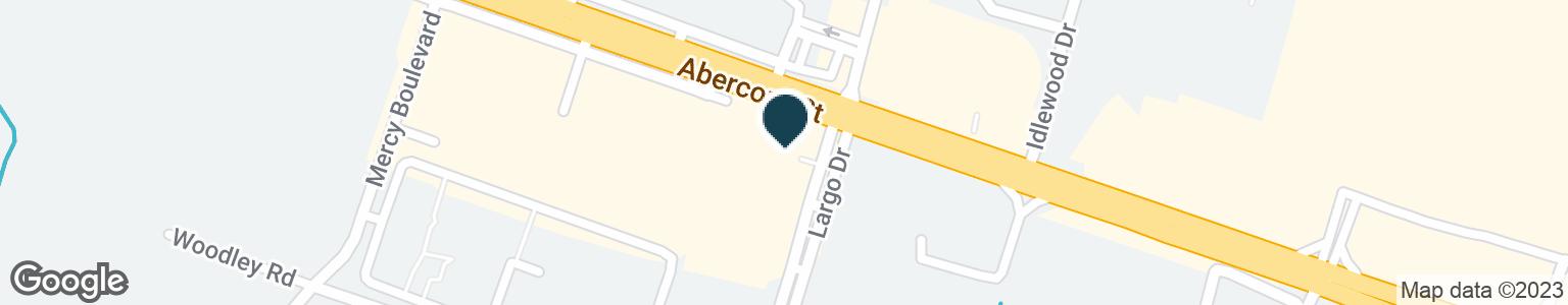 Google Map of11509 ABERCORN ST