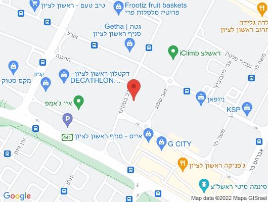 Google Map of נדב בסקינד 6 מערב ראשון לציון